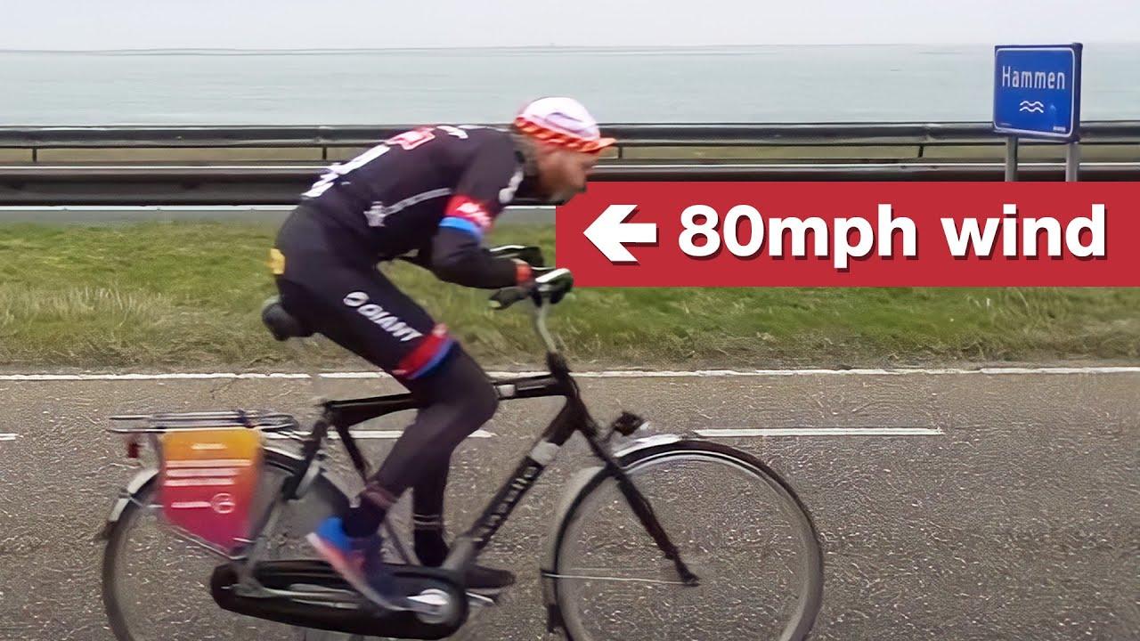 La gara ciclistica controvento