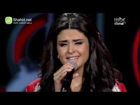 """سلمى رشيد تغني بالجلباب المغربي على مسرح """"Arab Idol"""""""