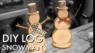 DIY Wooden Snowmen Christmas Decorations - Limited Tools Project