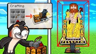 I Magically Craft AUTO BUILD Block in Minecraft!