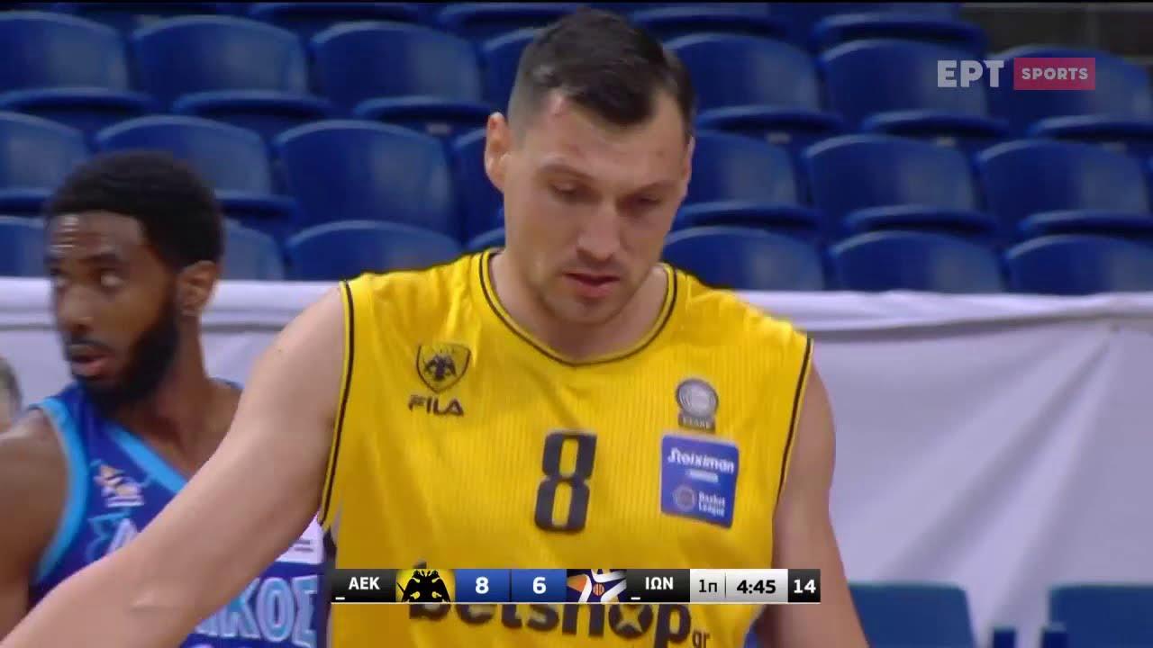 Basket League 2020 2021 | Άεκ vs Ιωνικός | 23/01/2021 | ΕΡΤ