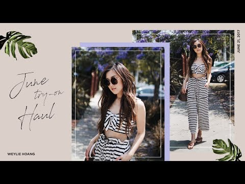 June Try-On Clothing Haul | ilikeweylie