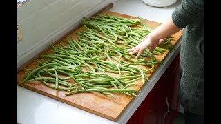 【小胖在西北】四季豆不要炒着吃了,媳妇一次秘制10斤,吃一年也不会坏