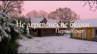 Не деревенские будни. Поездка в город. Первый снег.