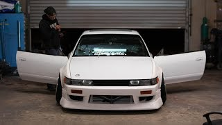 Dropping off the S13 for Paint + Finished Roll Cage!