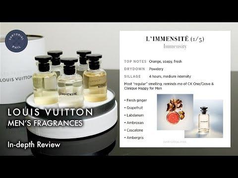 Louis Vuitton Men's Perfume Review: L'immensité, Nouveau Monde, Orage, Sur la Route & Au Hasard