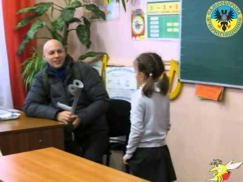 Діти читають патріотичні вірші про Україну Дмитру Тосичу (поранений офіцер  АТО). 031fb6dd7a5b4