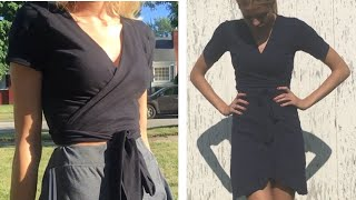 How To Turn A T Shirt Into A Wrap Shirt (or Dress)