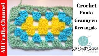 Como Tejer Un Rectangulo En Crochet - Punto Granny