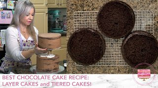 Best Chocolate Cake Recipe For Decorating Layer Cakes And Tiered Cakes! Decorating