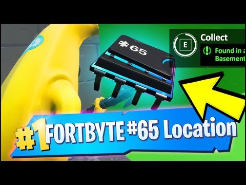 FORTBYTE 65 Location - FOUND IN A BASEMENT BUDGET MOVIE SET (Fortnite)