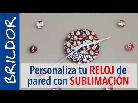 Reloj de pared sublimable