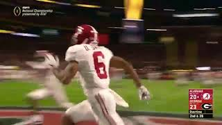 Alabama v Georgia National Championship | Epic Overtime Touch Down set to Titanic music