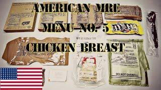 CHICKEN BREAST FILLET, Thanksgiving Dinner MRE MENU NO. 5 (2008) MRE - HD 1080P