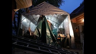 Zeltbau für unser Folkeboot, Test Profizelt 24, Review Bootshalle #Bootslager