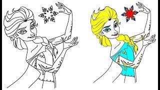 84 Gambar Mewarnai Frozen Elsa Dan Anna Terbaik