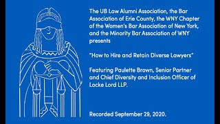 video presentation on hiring and retaining diverse lawyers