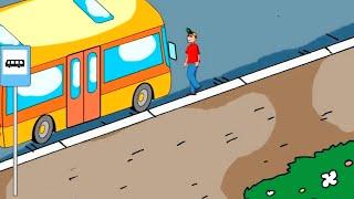 Как правильно обходить автобус.