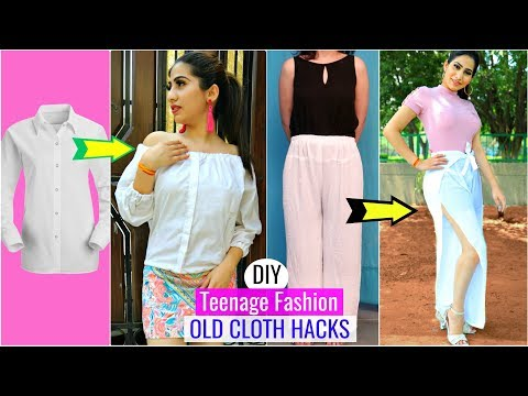 DIY Teenagers Fashion Hacks - Recycle OLD Clothes   #Anaysa  #Recycle #styling #DIYQueen