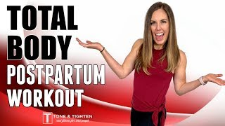 Postpartum At Home Workout - Beginner Total Body Workout After Pregnancy!