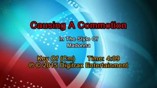 Madonna - Causing A Commotion (Backing Track)