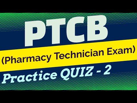 PTCB (Pharmacy Technician Exam) Practice QUIZ - 2 - YouTube
