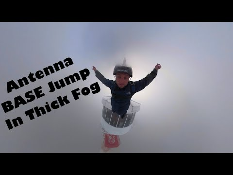 Insane BASE Jump Into Thick Fog