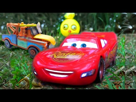 Disney Pixar Cars Toys GIANT EGG SURPRISE Lightning McQueen Mater AMAZING DISCOVERY Kids Cars Movie