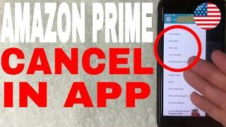 ✅  How To Cancel Amazon Prime Membership On Mobile App 🔴