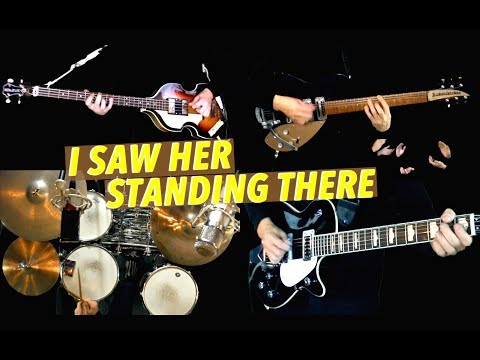 I Saw Her Standing There - Instrumental Cover - Guitars, Bass and Drums