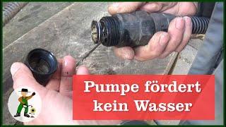 Pumpe zieht kein Wasser