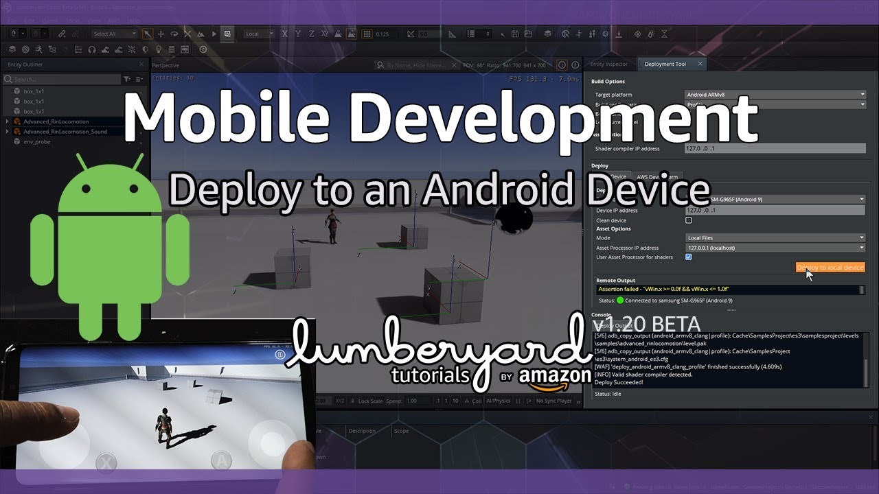 Deploy your Amazon Lumberyard Game to Mobile Devices for Android | Lumberyard Tutorial 2019.16