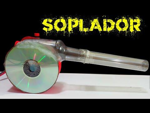 Cómo hacer un Soplador de aire de gran Potencia con CD y botella