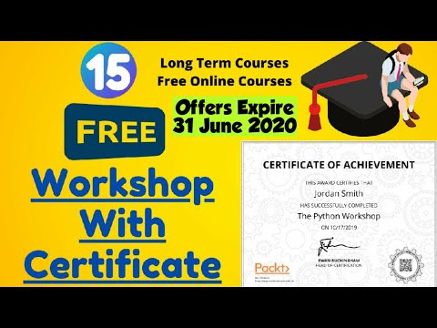 15+ Free Online workshop Courses with Certificate of Completion ...