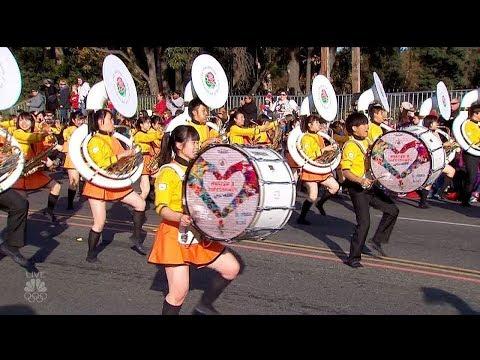 2018 ローズパレード - 京都橘高等学校吹奏楽部マーチングバンド他 - NBC