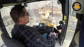 Cat 988H Wheel Loader Operator's View