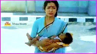 Emotional Scene Between Suhasini & Sarath Babu - Samsaram Oka Chadarangam Movie