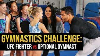 Gymnastics Challenge: UFC Fighter Kevin Lee vs Optional Gymnasts with UCLA star Peng Peng Lee.