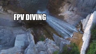 FPV Waterfall Diving