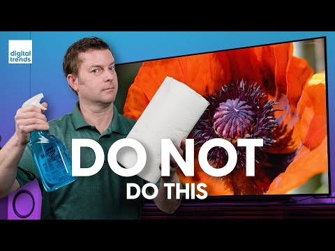 Don't Make These Mistakes While Cleaning Your TV Screen