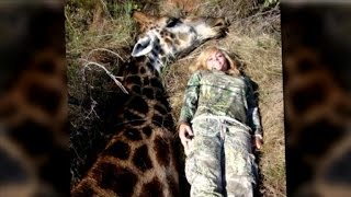 Giraffe Hunter Gets Death Threats After Ricky Gervais Tweets Her Picture