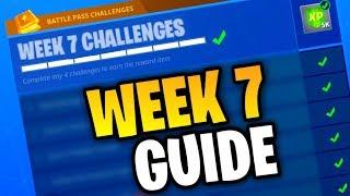 Fortnite WEEK 7 CHALLENGES GUIDE! (Fortnite: Battle Royale) [SEASON 4]
