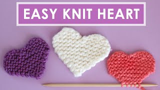 Easy Heart Knitting Pattern In Garter Stitch