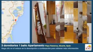 preview picture of video '3 dormitorios 1 baño Apartamento se Alquila en Playa Flamenca, Alicante, Spain'
