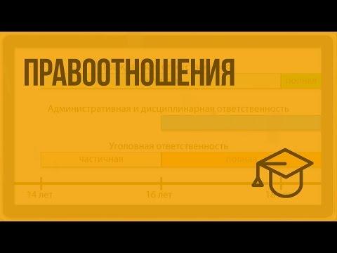 Правоотношения. Видеоурок по обществознанию 10 класс