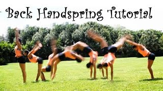 How To Do a Back Handspring FAST!!!!