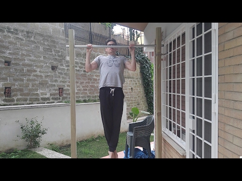 How To Make A Freestanding Pull Up Bar Diy Sbarra Per Trazioni