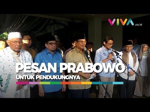 Prabowo Minta Pendukungnya Hormati Penegak Hukum