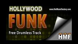 FREE Drumless Track: Hollywood Funk (www.HotMusicFactory.com)