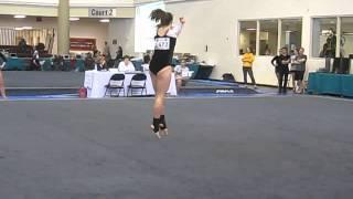 Stephanie Reisfeld Floor Gymnastics Routine (Nationals in San Marcos TX 2010)